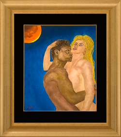 Roberto Gabrieli -Idillio al chiar di luna - 50x60-Olio