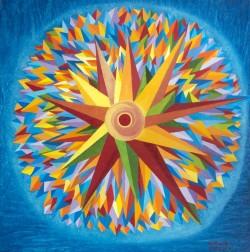 ASTRO-NASCENTE-olio-su-tela-Oil-on-canvas--70-x-70-2016