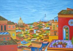 Amore-per-la-mia-Roma-olio-su-tela-Oil-on-canvas---70-x-100-2017