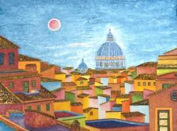 Roma-San-Pietro-olio-su-tela-Oil-on-canvas-2016